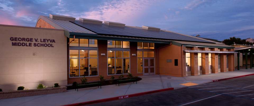 LeyVa Middle School Building Front