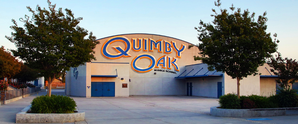 Quimby Oak Middle School Building Front