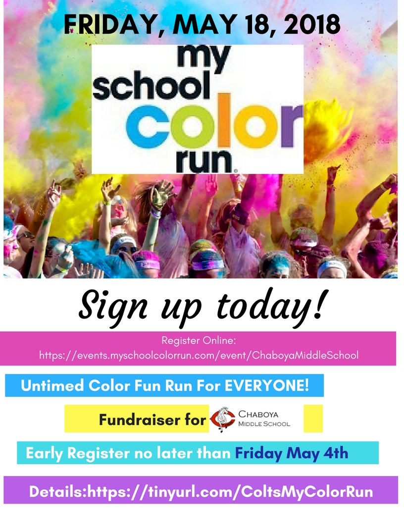 Evergreen school district may 18th color run color run friday may 18 2018 start registering publicscrutiny Gallery