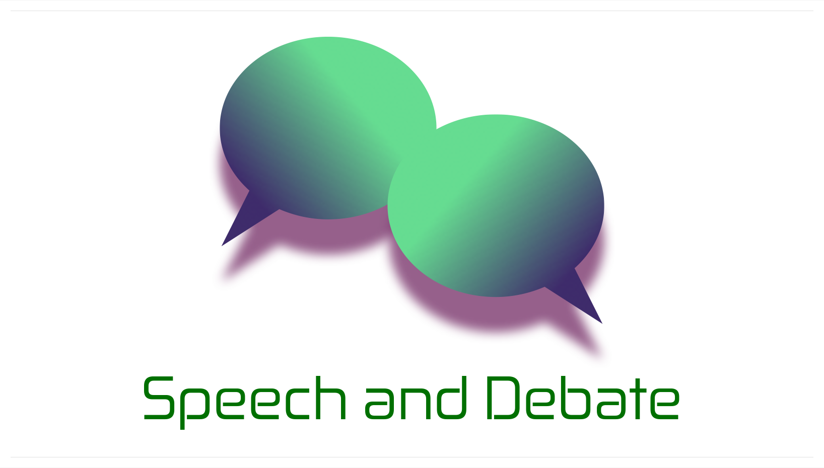 Speech & Debate Logo