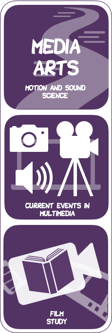 Media Arts: Current Events in Multimedia, Film Study Logos