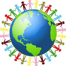 Figures Hand in Hand around the world