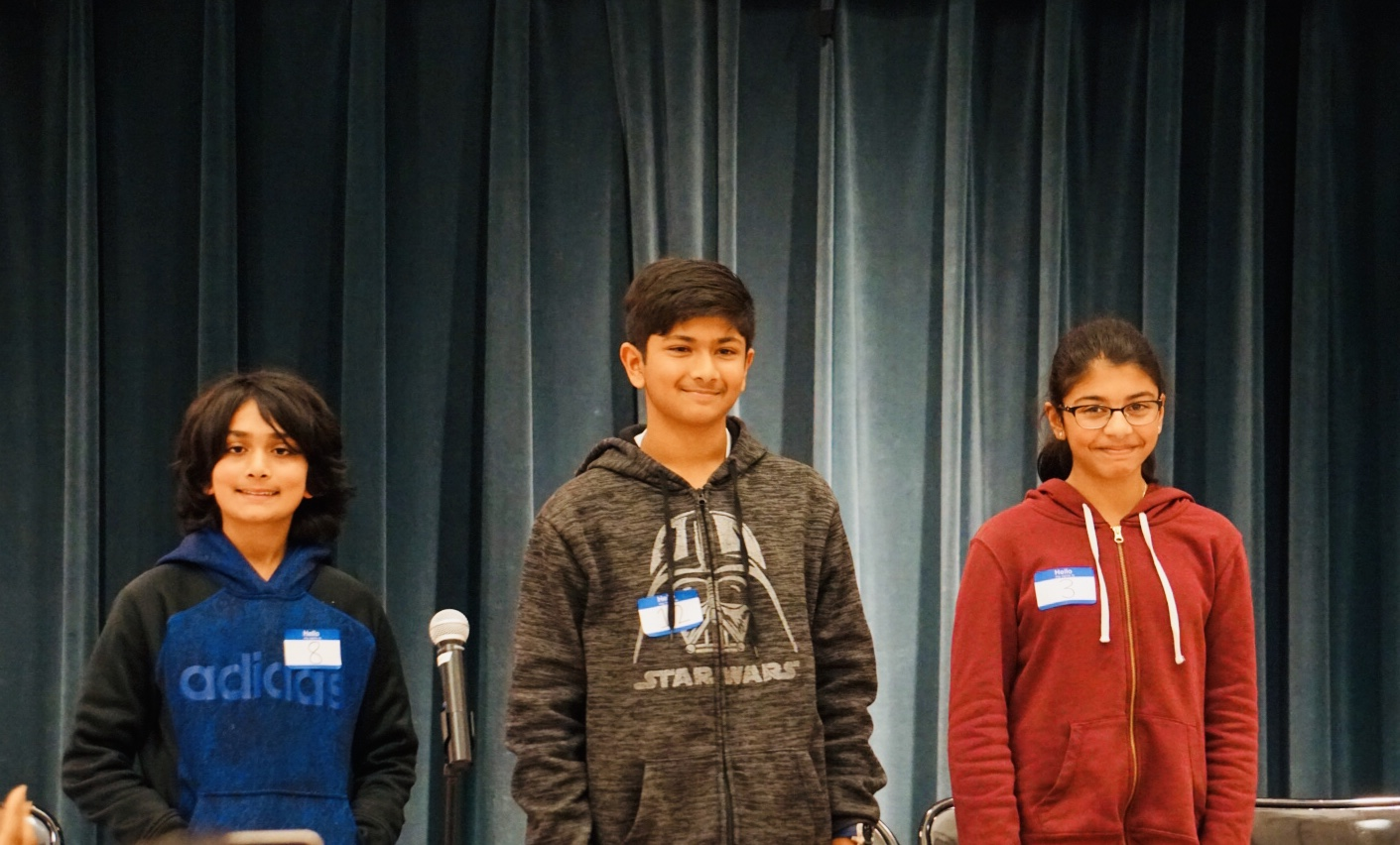 Picture of top three Silver Oak spellers